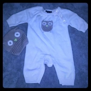 Owl baby gap outfit with hat